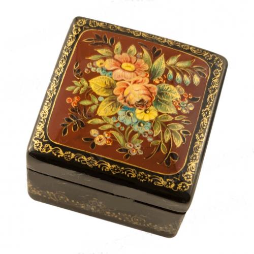 Russian decorative box Bouquet