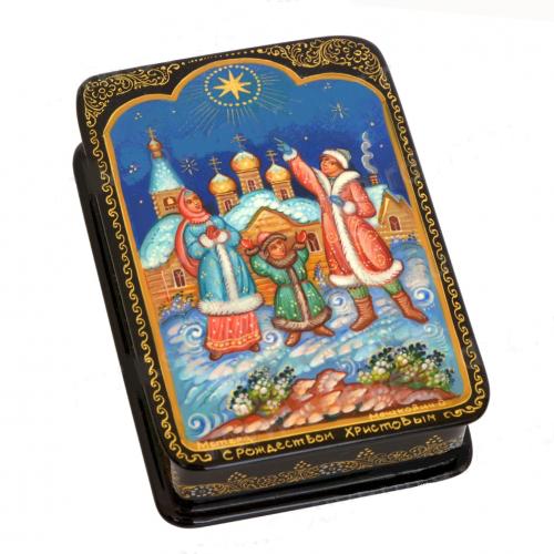 Russian decorative box Christmas