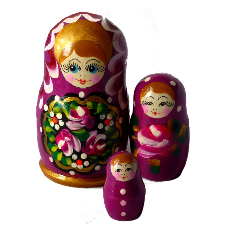 Russian doll Polina_3 piece set