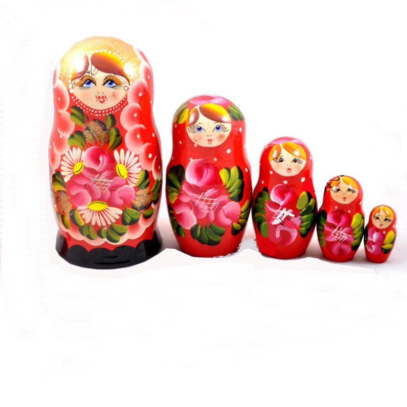 Russian doll Anfisa Red