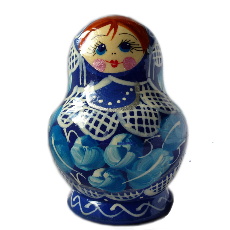 Russian doll Luisa blue, 5 piece set