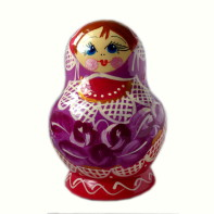 Russian doll Luisa Pink, 5 piece set